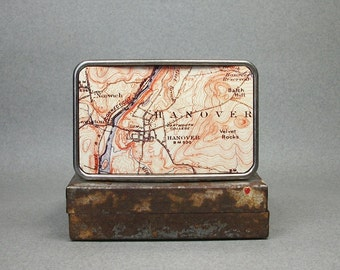 Belt Buckle Hanover New Hampshire Vintage Map Unique Gift for Men or Women