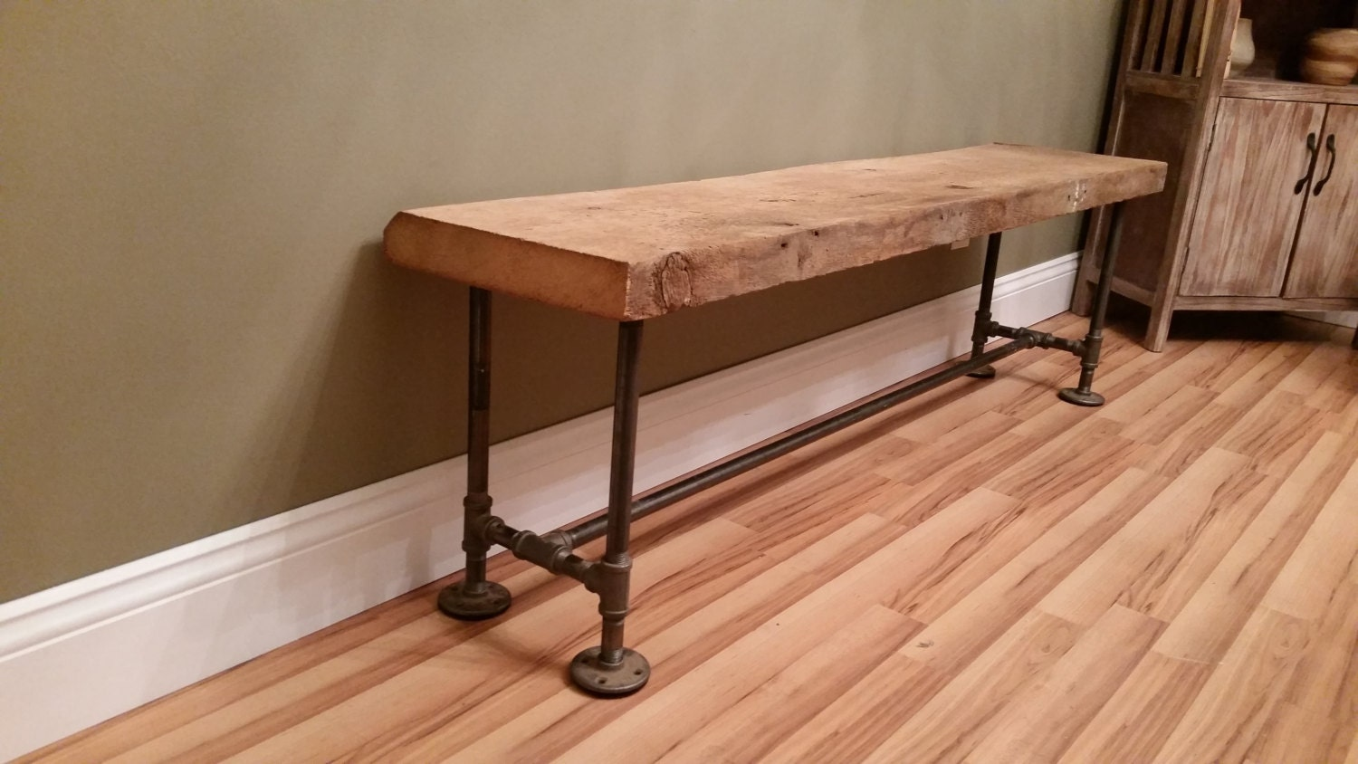 Free Shipping Barn Wood Rustic Bench 4 Foot By Thepinktoolbox