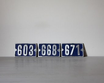 ONE Vintage French Traditional House Number Loft Living, Select your Number 603, 668 (OR 899), 671