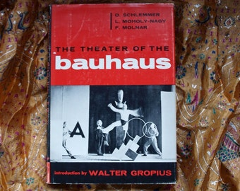 Theater Of The Bauhaus Walter Gropius Maholy-Nagy Schlemmer Molnar Foldout Wesleyan 1st Edition 1961