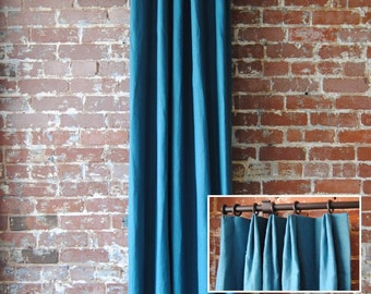 "84"" Solid Panel with Euro Pleat - Custom Curtains - french pleat curtains - You Pick The Color - custom drapes"