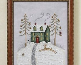 Pick One Pinehill House Meadowhill Summerhill Oakhill cross stitch patterns OPTIONAL emb. pack by Debbie Mumm Mill Hill thecottageneedle.com