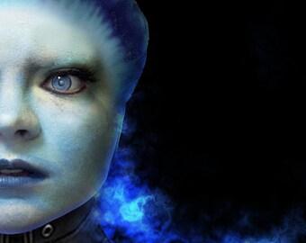 Asari 2.0 Latex Headpiece - Mass Effect Inspired