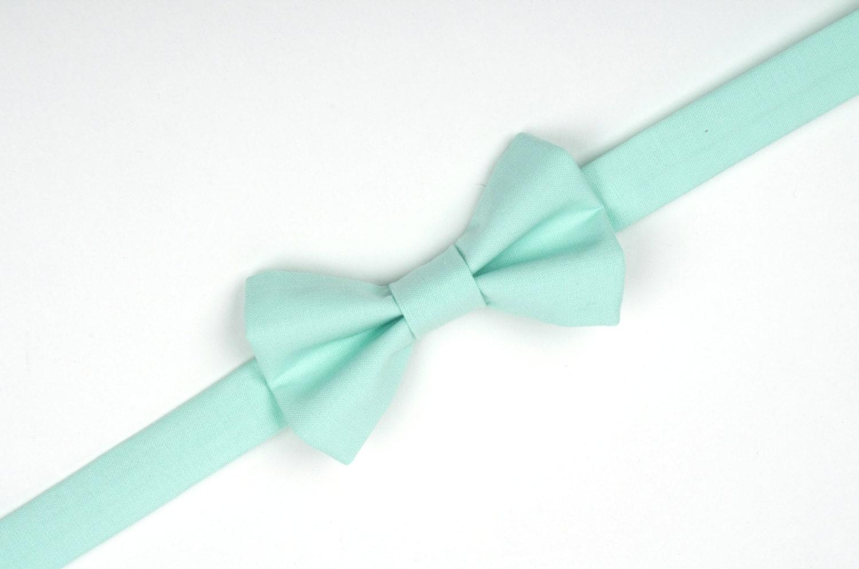 mint bow tie mint green mint wedding ring bearer bow tie