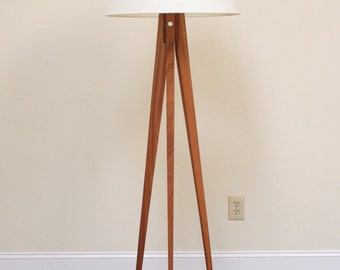 Floor Lamp - Tripod Slim - Mahogany (African)