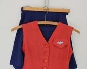 Bluebirds Campfire Girls 1950s Vintage Uniform