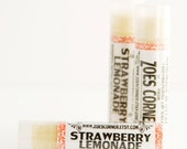 Lip Balm - Strawberry Lemonade - 100% Natural Lip Balm - Made with Local Beeswax and Local Sunflower oil