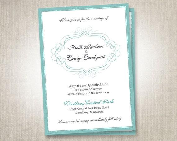 Navy And Peach Wedding Invitations: Items Similar To Blue Wedding Invitations Invites RSVP