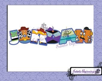 Personalized Custom Disney Toy Story Letters Name Digital File DIY Print Iron On Buzz Jessie Woody Zurg Potato Head Rex Alien