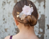 Girls headpiece - chiffon flower comb - flower headpiece - floral comb - flowergirl headpiece - girls accessories - holiday accessories