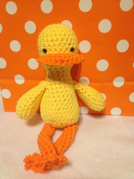 Amigurumi Stuffing Alternatives : Amigurumi Little Duck Stuffed Animal by hookedandloopy on Etsy