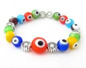 Kids Bracelet, Child's Bracelet, Evil Eye Bracelet, Unisex Kids Bracelet, Charm Bracelet, Girls Bracelet, Kids Jewelry