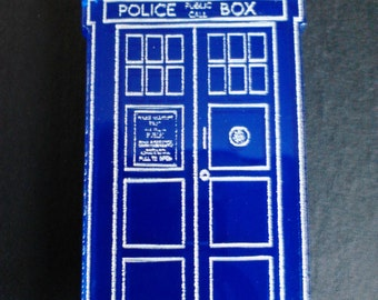 Doctor Who Tardis Police Box Inspired Fridge Magnet Dr Who Space Ship Refrigerator Magnet