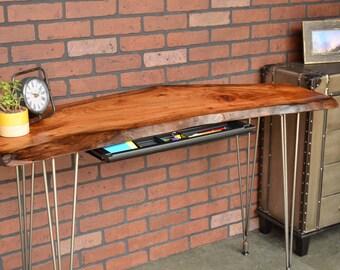 Reclaimed Live Edge Slab Desk