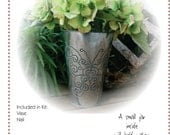Flutter~by Flower Vase - DIY Tin Punch Kit - Perforation, vase, butterfly pattern
