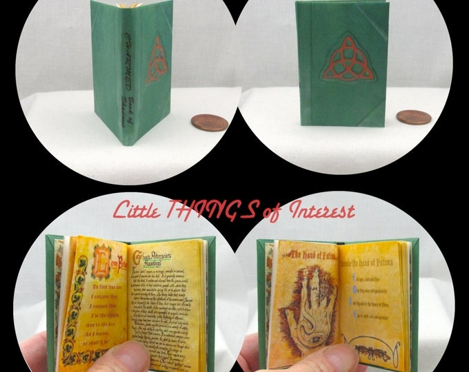 CHARMED BOOK of SHADOWS Illustrated Book in 1:3 Scale Readable Spell Book American Girl Doll 18 inch Ag Doll 1/3 Scale