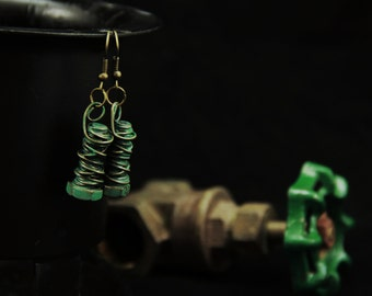 Industrial Wire Wrapped Bolt Earrings (E0010)