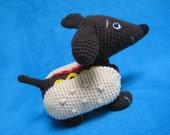 Wiener Dog Dachshund Hot Dog Amigurumi Crochet Pattern PDF Toy Animal