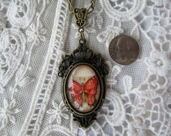Victorian Butterfly Wings Pendant, The Past Inspires Your Timeless Style! Gift Ready Inspired