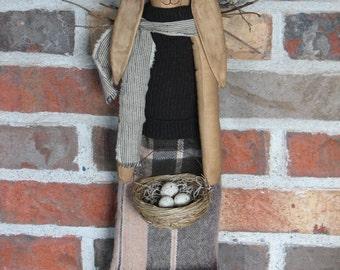 Mrs. Hopper with Basket of Eggs