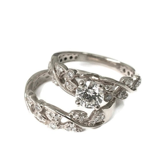 Engagement Set White Gold Wedding Ring