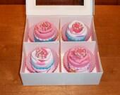 Baby Sock Cupcakes - 4 Pack (6 pairs of socks) - Baby Shower Gift