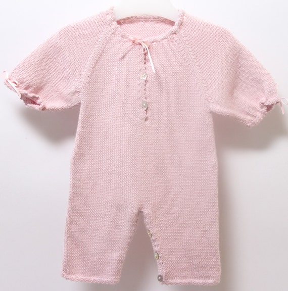 Baby jumpsuit / Knitting Pattern Instructions in French / PDF