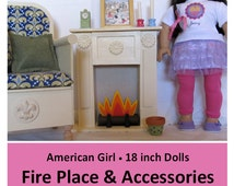 American Girl _ 18 inch Doll Furniture PATTERN _ Fire Place & Lots of Accessories _ Easy! + BONUS Guide _ Digital Download _ PDF Pattern