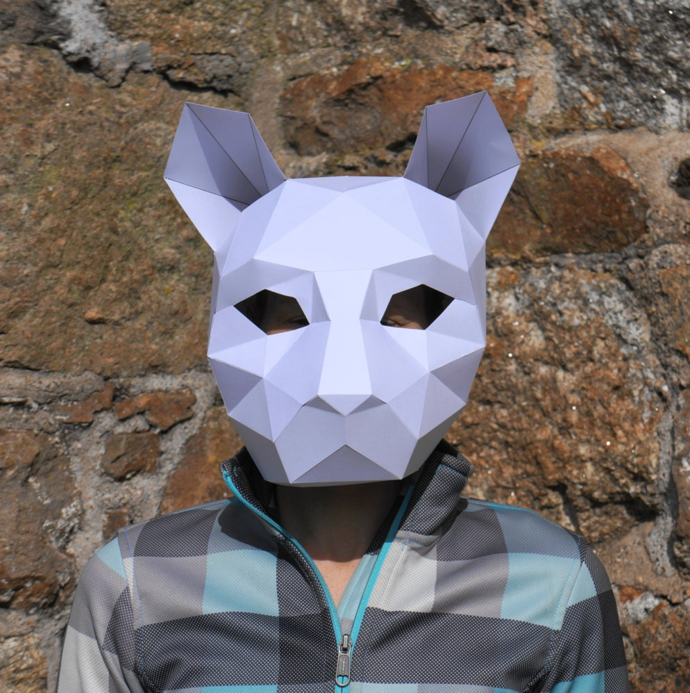 Uncategorized How To Make A Cat Mask cat or tiger mask make your own with this simple pdf