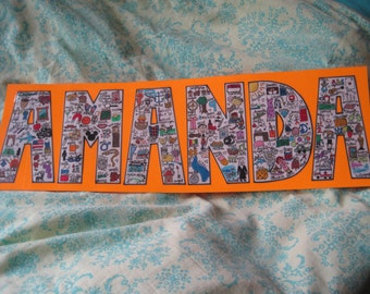 Collage Letter/Name Prints