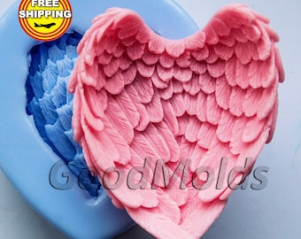 Wings 3D soap mold silicone molds mold for soap mold angel mold silicone mold free shipping