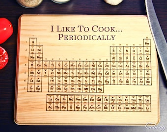Periodic table cutting board on etsy a global handmade and vintage marketplace - Periodic table chopping board ...