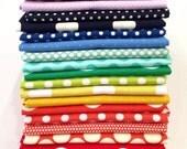 Rainbow Polka Dot FQ Bundle