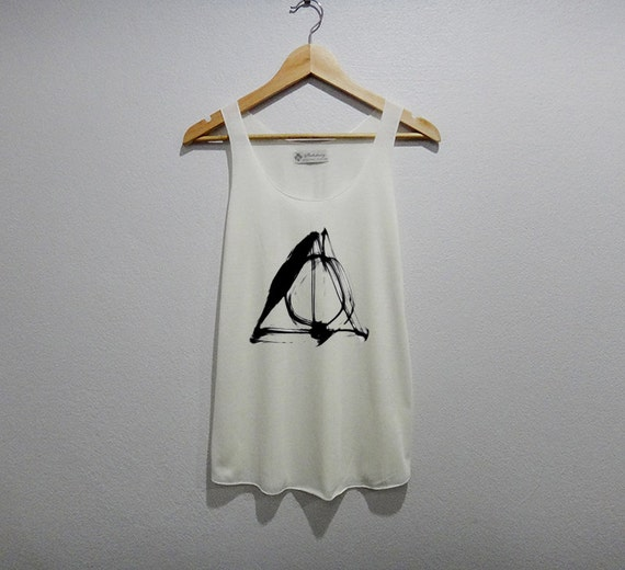 Deathly Hallows Harry Tank Top Women Size S M L