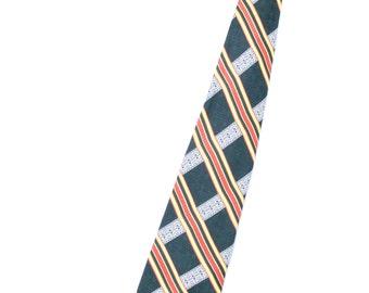 Mens Wide Necktie / Mens Necktie Ties / Mens Neck Tie / Green Necktie / Vintage Tie / Vintage Necktie / Green Tie / Romano Polyester Necktie