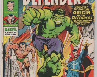 Marvel Feature (Presents the Defenders); Vol 1, 1 Bronze Age Comic Book.  FN/VF.  December 1971.  Marvel Comics