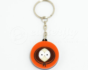 FREE SHIPPING - Kenny McCormick South Park Keychain | Laser Cut South Park Character