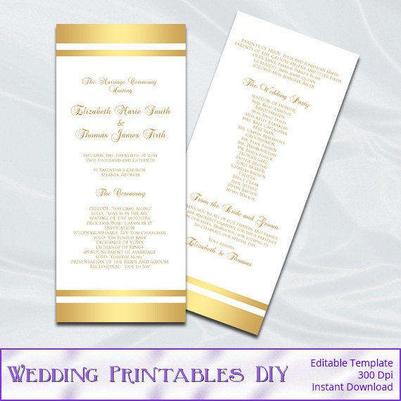 Wedding Program Template Diy Gold Foil Stripes Tea Length. Realistic Wedding Planner Games Online. 50's Style Wedding Jewelry. Wedding Colors For November Weddings. Small Wedding Venues Peterborough. Wedding Centerpieces Nashville Tn. Elegant Wedding Sandals. It's A Wedding Day Brenda Mp3. Designer Wedding Gowns Plus Size