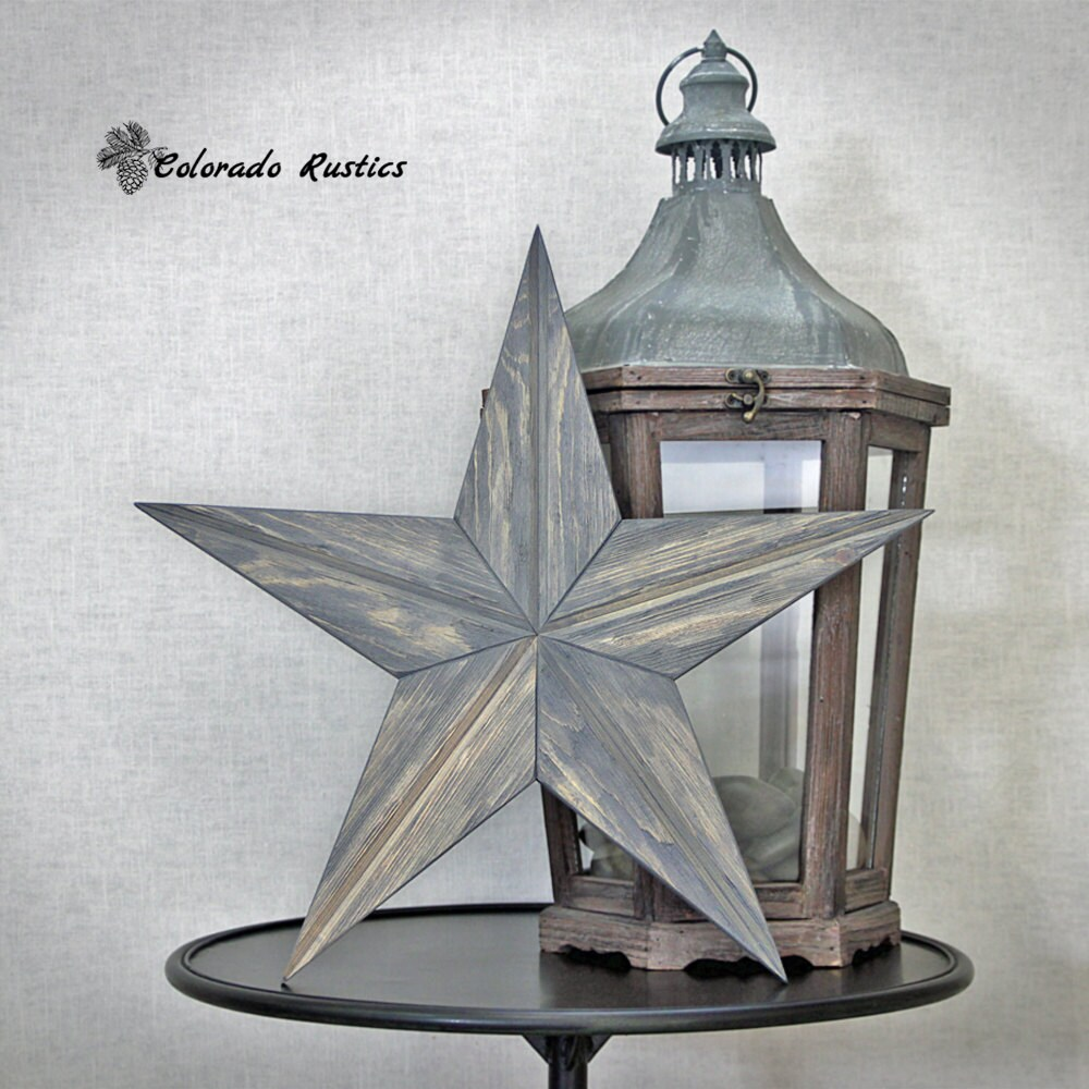 Rustic Star Wood Wall Art Beach D Cor Reclaimed By