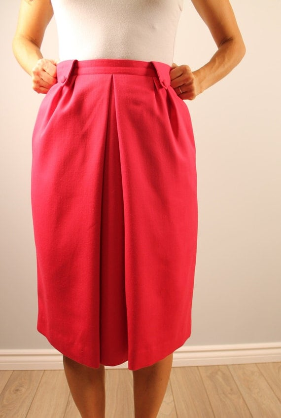 vintage pencil skirt high waisted tulip shape by