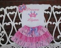 Royal Princess Outfit! Princess Play Outfit! Baby Girls Princess Outfit/Girls Princess Outfit/Princess Crown Outfit/Princess Birthday Outfit