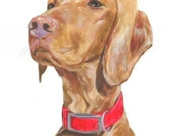 """11x14"""" // Custom Dog Portrait // Original Gouache Painting on Archival Watercolor Paper"""