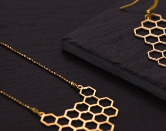 Saltire honeycomb gold Mat