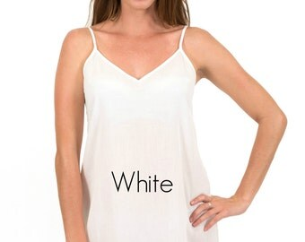 Dress Slip in soft Cotton Voile - Our Celine style with Front & Back Darts in White  XS - 3XL by Spirituelle