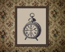 Retro Alarm Clock, Counted Cross stitch, Pattern PDF, Cross Stitch Chart , Cute Cross Stitch, Cross stitch pattern, pixel art, 0194