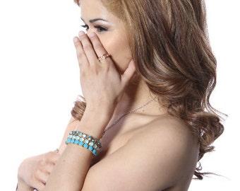 Blue Stretch Gem Bracelet Pack