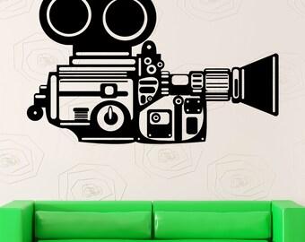 Wall Stickers Camera Operator Film Movie Cinema Filming Vinyl Decal (ig2433)