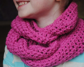 Pink Spring Scarf, Infinity Scarf, Kids Infinity Scarf, Womens Infinity Scarf, Girls Infinity Scarf, Crochet Infinity Scarf, Pink Scarf
