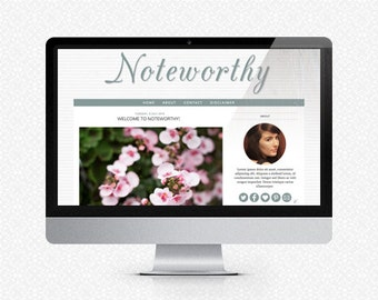 Noteworthy: Premade Blogger Template