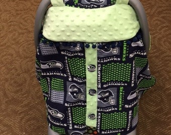 Seattle Seahawks Baby Car Seat Canopy